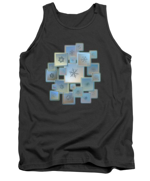 Snowflake Collage - Bright Crystals 2012-2014 Tank Top
