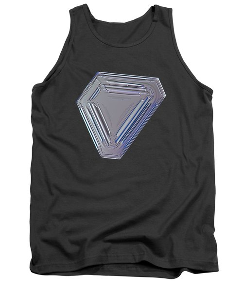 Tank Top featuring the photograph Snowflake Photo - Four Directions by Alexey Kljatov