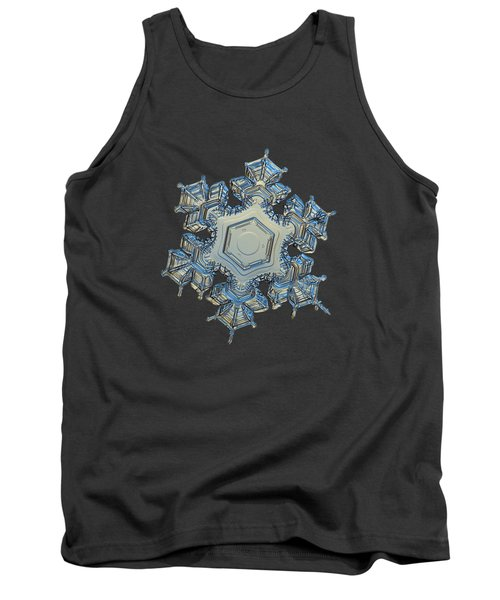 Tank Top featuring the photograph Snowflake Photo - Iron Crown by Alexey Kljatov