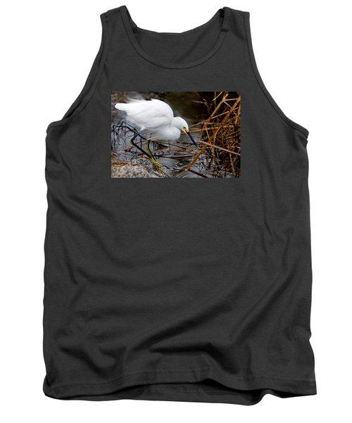 Snowy Egret Egretta Tank Top