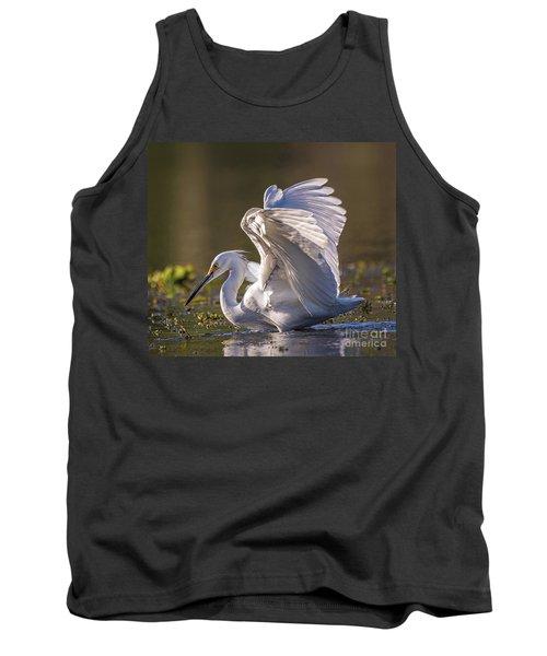 Snowy Egret Hunting - Egretta Thula Tank Top
