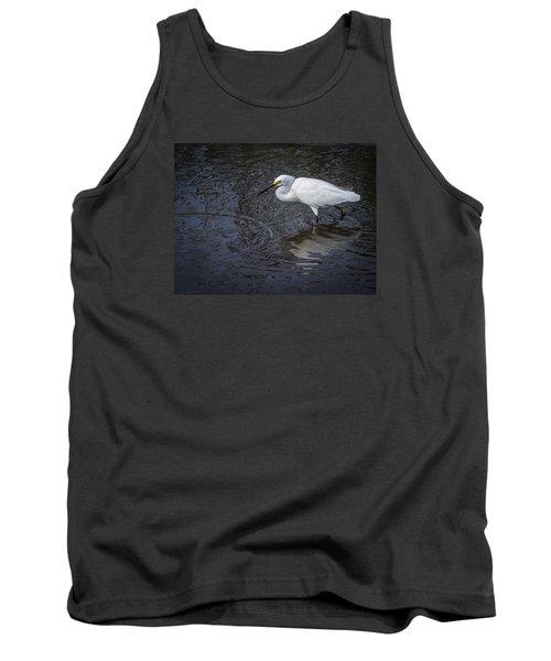 Snowy Egret Hunting Tank Top