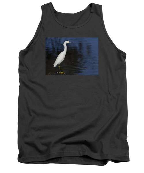 Snowy Egret Perched On A Rock Tank Top