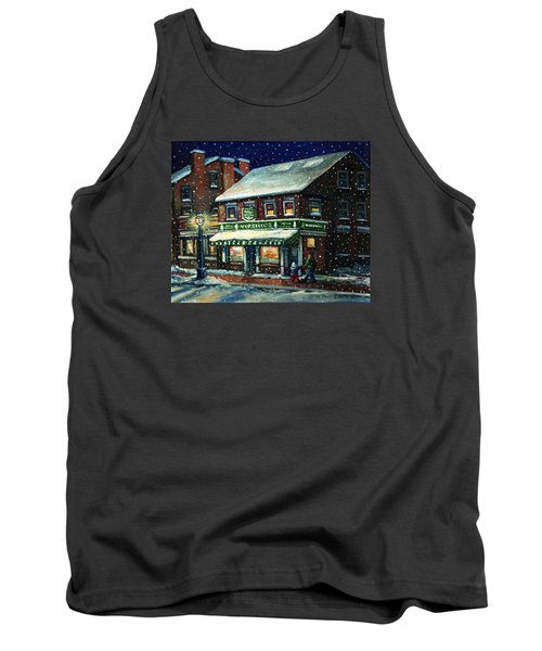 Snowy Evening In Gloucester, Ma Tank Top