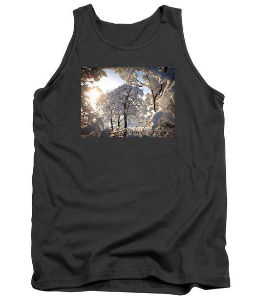 Tank Top featuring the photograph Snowy Trees by RKAB Works