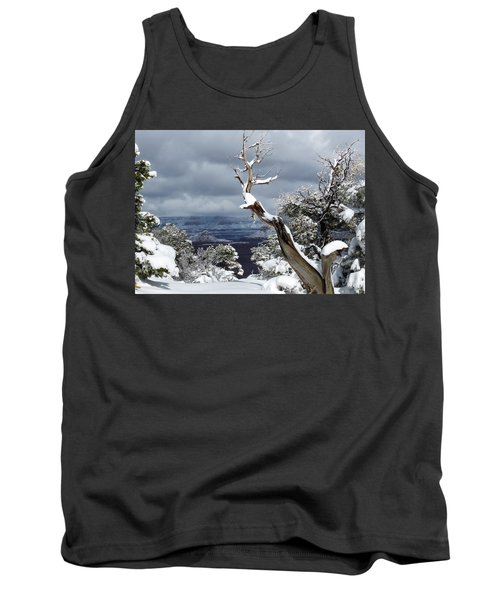 Tank Top featuring the photograph Snowy View by Laurel Powell