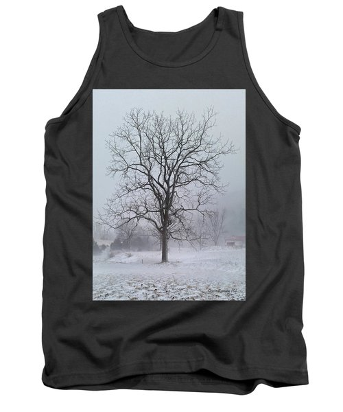 Tank Top featuring the photograph Snowy Walnut by Denise Romano