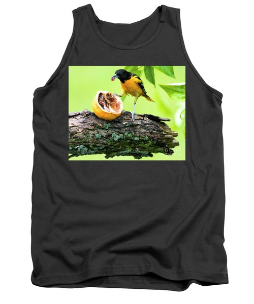 Soaking Wet Baltimore Oriole At The Feeder Tank Top