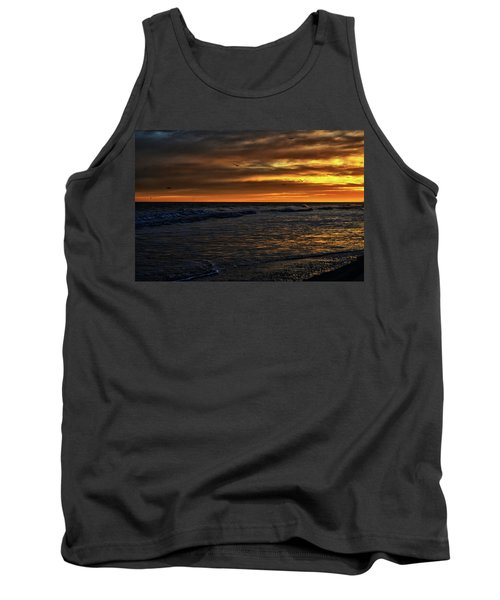 Tank Top featuring the photograph Soaring In The Sunset by Kelly Reber