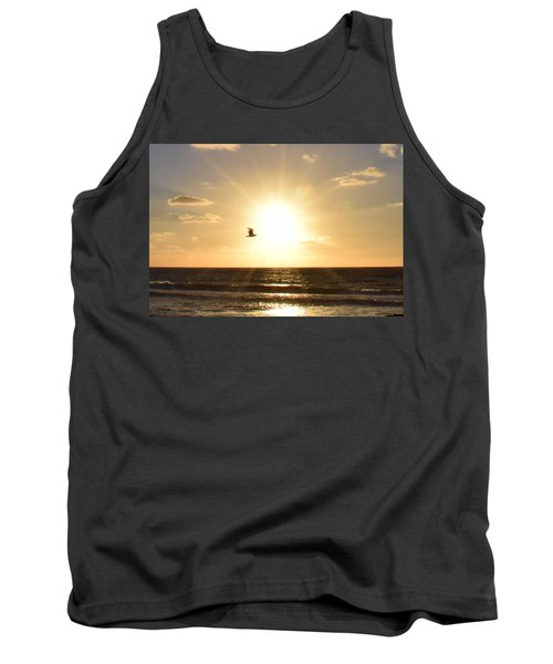Soaring Seagull Sunset Over Imperial Beach Tank Top