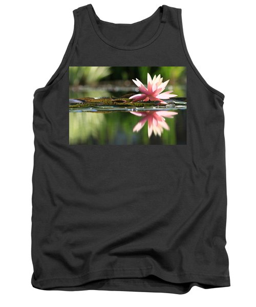 Soft Pink Water Lily Tank Top