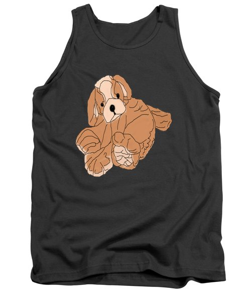 Tank Top featuring the digital art Soft Puppy by Jayvon Thomas