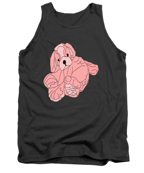 Tank Top featuring the digital art Soft Puppy Pink by Jayvon Thomas