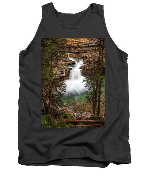 Tank Top featuring the photograph Soft Smooth Waterfall by Darcy Michaelchuk