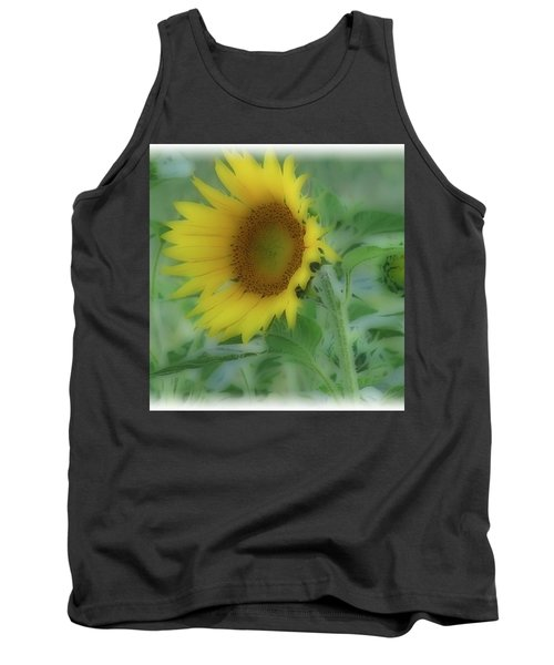 Tank Top featuring the photograph Soft Touch Sunflower by Debra     Vatalaro