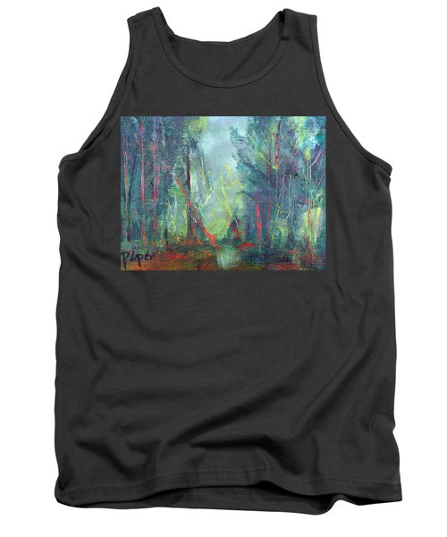 Softlit Forest Tank Top by Betty Pieper