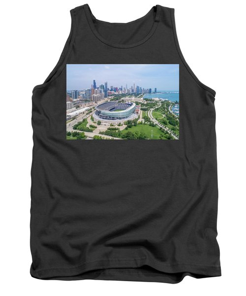 Tank Top featuring the photograph Soldier Field by Sebastian Musial