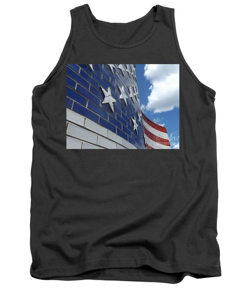 Solid Old Glory  Tank Top by Erick Schmidt