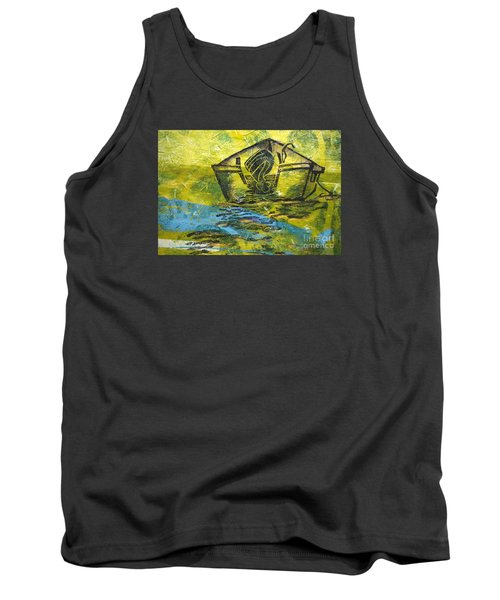 Tank Top featuring the mixed media Solitaire by Cynthia Lagoudakis