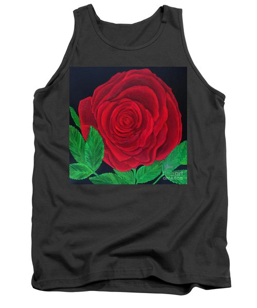 Solitary Red Rose Tank Top