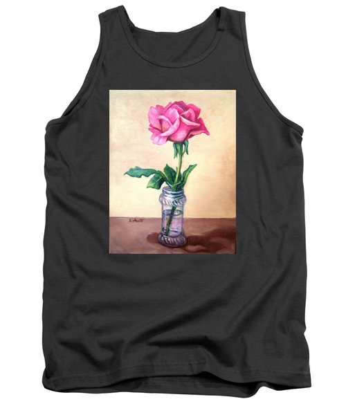 Tank Top featuring the painting Solo Rose by Laura Aceto