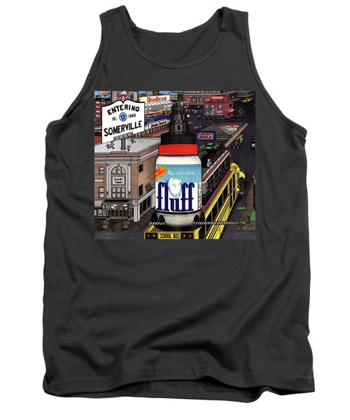 Tank Top featuring the drawing A Strange Day In Somerville  by Richie Montgomery