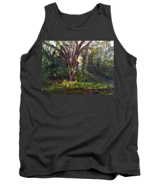 Somewhere In The Park Tank Top by Belinda Low