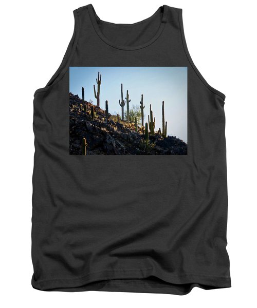 Sonoran Desert Saguaro Slope Tank Top