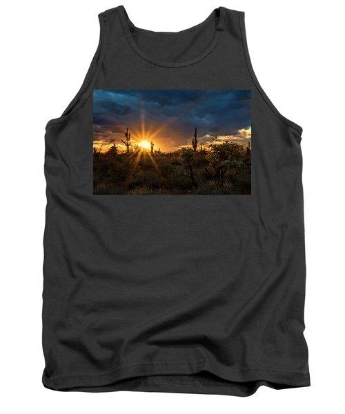 Tank Top featuring the photograph Sonoran Gold At Sunset  by Saija Lehtonen