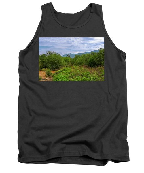 Tank Top featuring the photograph Sonoran Greenery H30 by Mark Myhaver