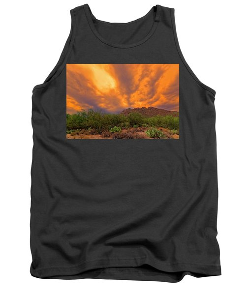 Tank Top featuring the photograph Sonoran Sonata H16 by Mark Myhaver