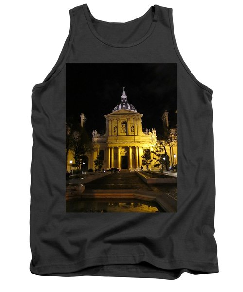 Tank Top featuring the photograph Sorbonne Night by Christopher Kirby