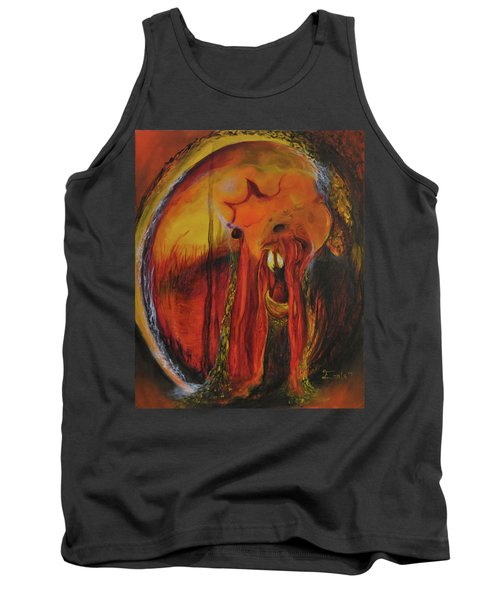 Tank Top featuring the painting Sorcerer's Gate by Christophe Ennis