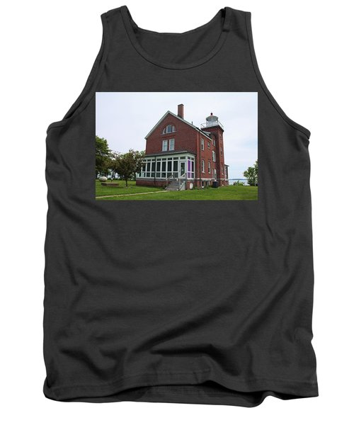 South Bass Island Lighthouse- Horizontal Tank Top by Michiale Schneider