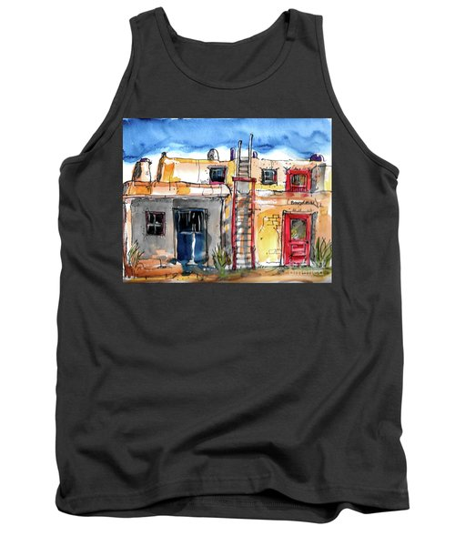 Tank Top featuring the painting Southwestern Home by Terry Banderas