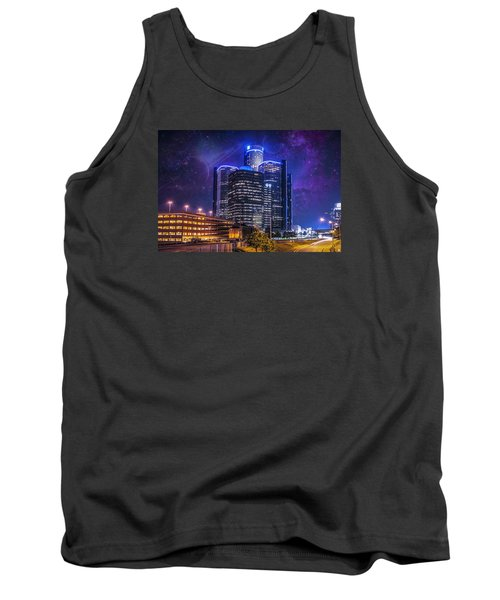 Tank Top featuring the photograph Space Detroit by Nicholas  Grunas