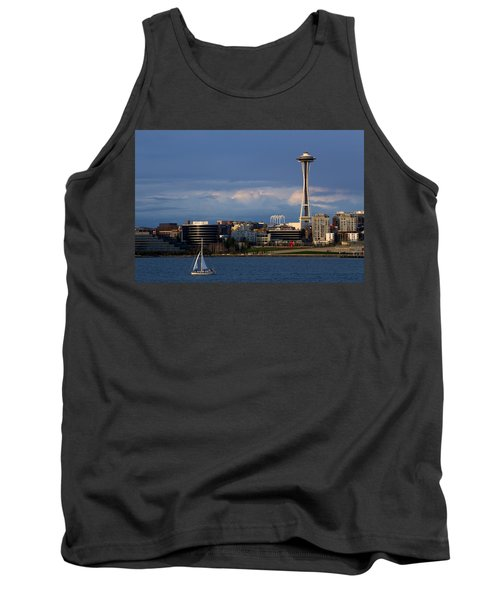 Space Needle Tank Top by Evgeny Vasenev