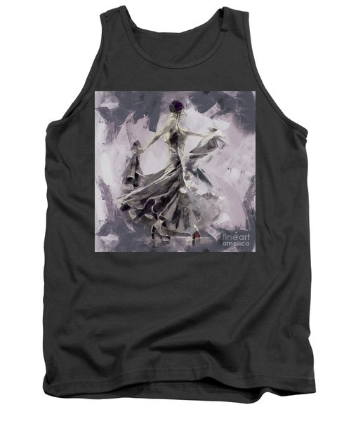 Tank Top featuring the painting Spanish Dance Painting 03 by Gull G
