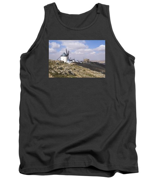Spanish Windmills And Castle Of Consuegra Tank Top