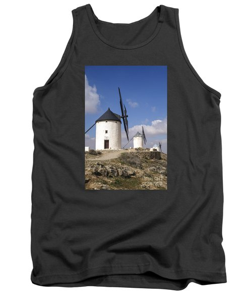 Spanish Windmills In The Province Of Toledo, Tank Top by Perry Van Munster