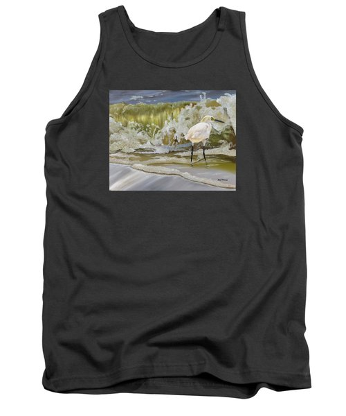 Sparking Snowy Egret Tank Top by Phyllis Beiser