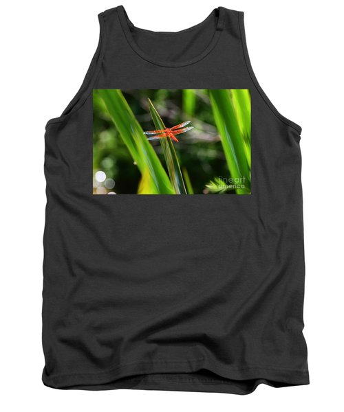 Sparkling Red Dragonfly Tank Top
