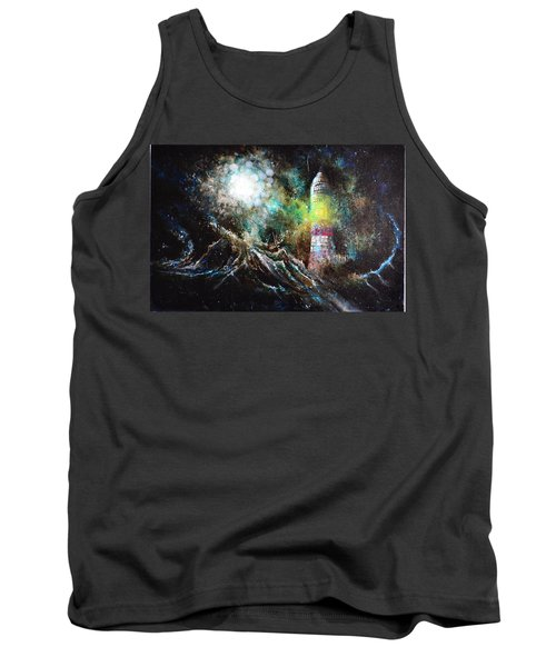 Tank Top featuring the painting Sparks - The Storm At The Start by Sandro Ramani