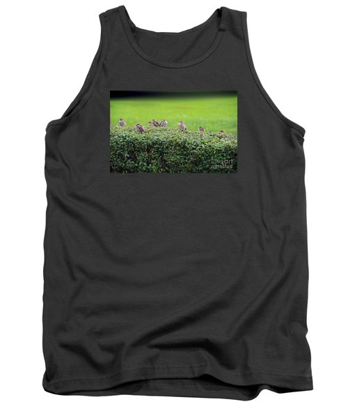 Sparrows Gathering Place  Tank Top by Yumi Johnson