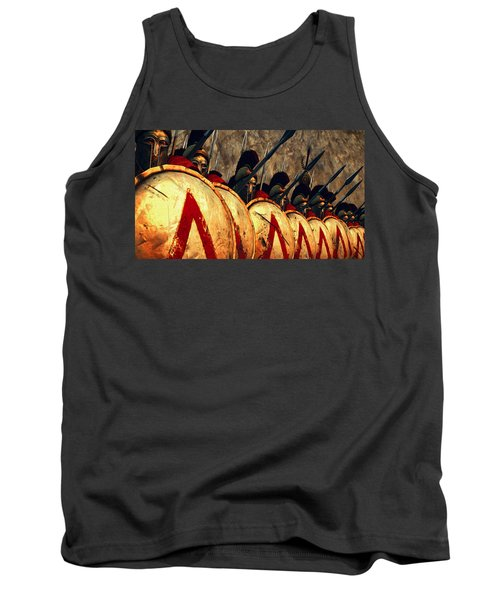 Spartan Army - Wall Of Spears Tank Top