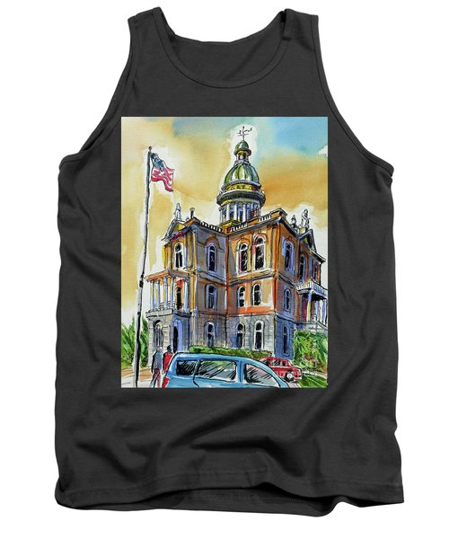 Tank Top featuring the painting Spectacular Courthouse by Terry Banderas