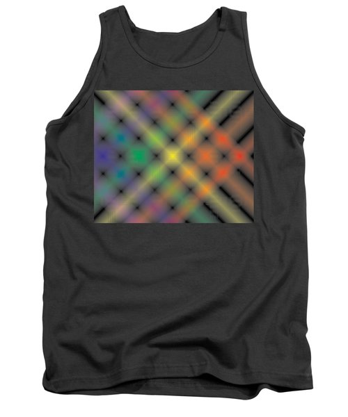 Spectral Shimmer Weave Tank Top