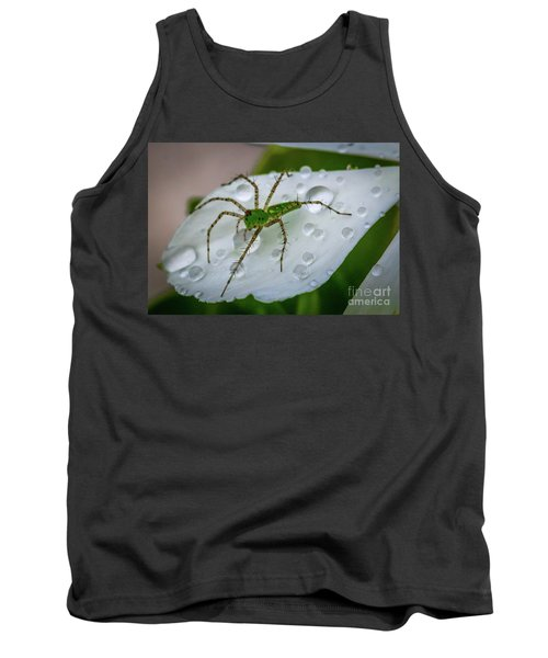 Spider And Flower Petal Tank Top by Tom Claud