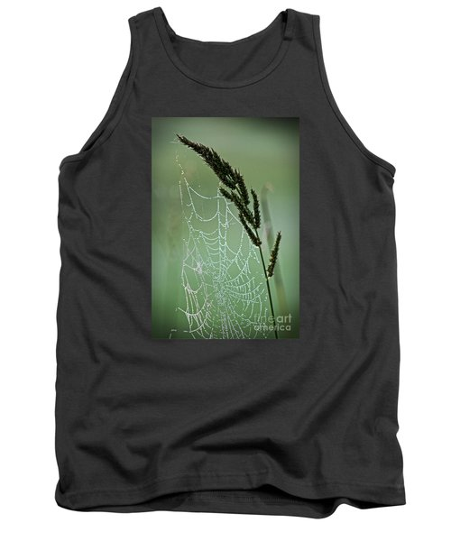 Spider Web Art By Nature Tank Top by Ella Kaye Dickey