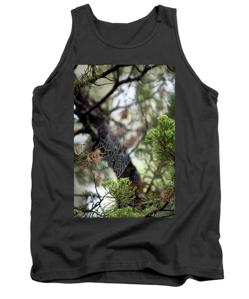 Spider Web In Tree Tank Top